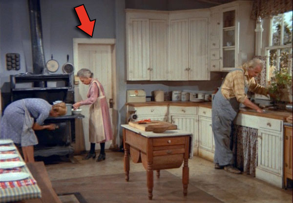 The Door In Kitchen Near Stove Is Another Of Contention Among Fans Show It Not Used Often But Occionally Grandma And Olivia Can