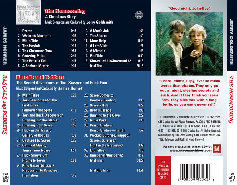 homecoming cd back panel the homecoming a christmas story - A Christmas Story Soundtrack