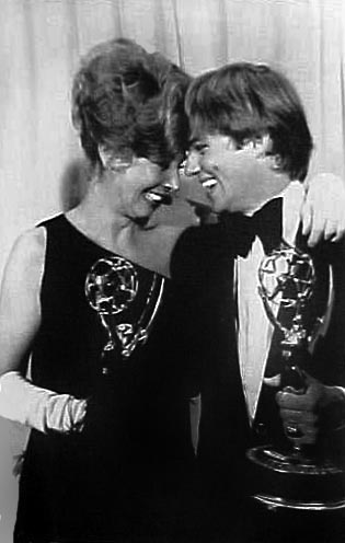 Michael Learned and Richard Thomas celebrate their Best Actor and Actress awards at the 25th Emmy Awards May 20th ,1973