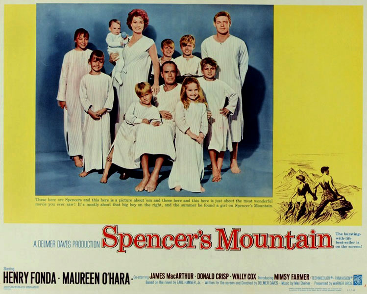 Spencer's Mountain Lobby Card